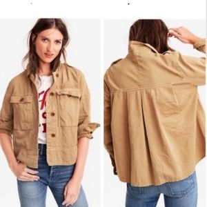 J.Crew 2017 Garment Dyed Safari Shirt Jacket